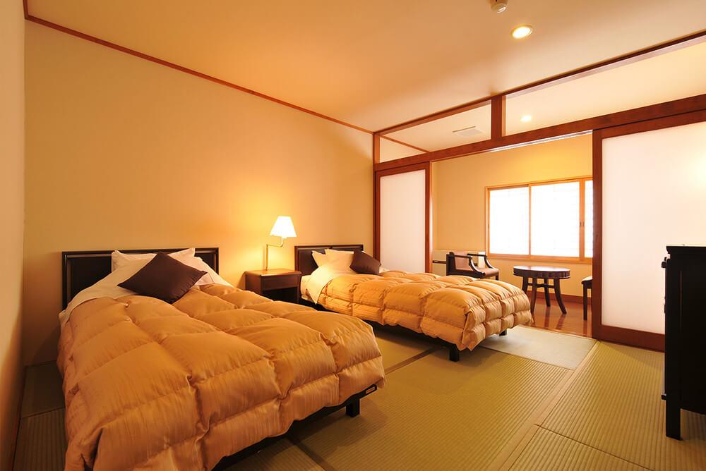 本館 和室11畳+ツインベッドルーム 【和洋室】メイン画像
